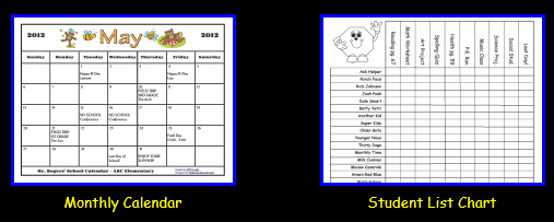 Monthly Calendar Creator : Custom classroom newsletter printable sample home