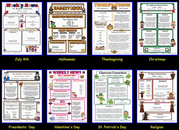 additional holiday and religious newsletter templates