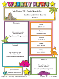 teacher newsletter examples