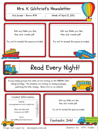 Custom classroom newsletter printable sample home ways to travel maxwellsz
