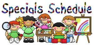 Here Is Our Schedule For Specials Classes