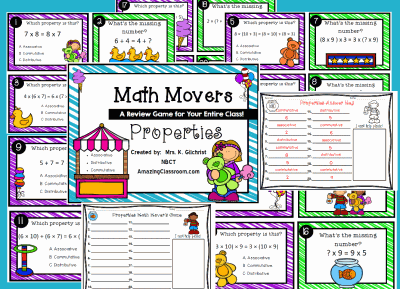 Math Movers Properties Game