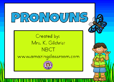 Pronouns Flipchart Lesson