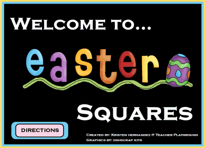 Easter Squares Spring Game Template