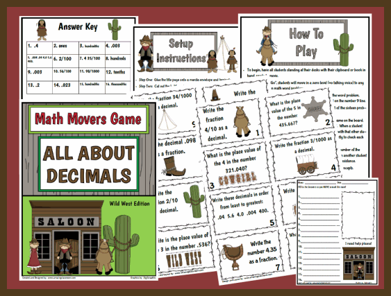 math worksheet : math movers game all about decimals printable worksheet with  : All Operations With Decimals Worksheet