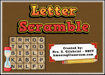 Letter Scramble Word Game Flipchart