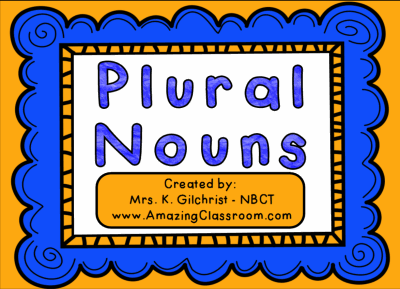 Plural Nouns Lesson Smart Notebook