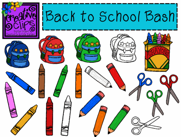 Back to School Bash Clip Art