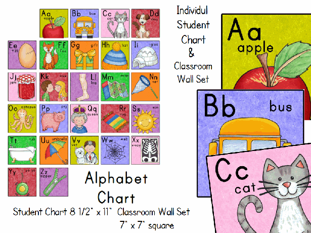 Alphabet Charts For Classroom Student Alphabet Chart And