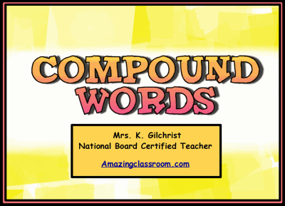Making & Recognizing Compound Words