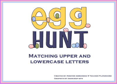Egg Hunt Matching Upper & Lowercase