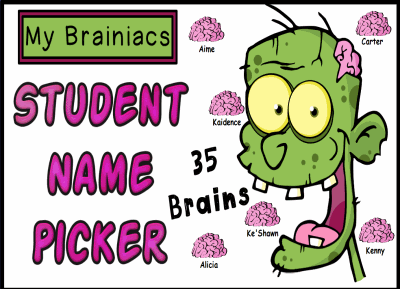 Zombie Student Name Picker
