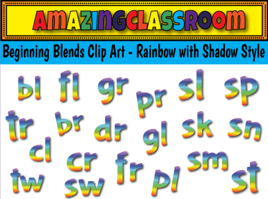 Beginning Blends Rainbow Style