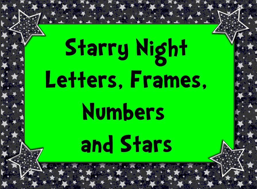 Starry Night Letters and Numbers