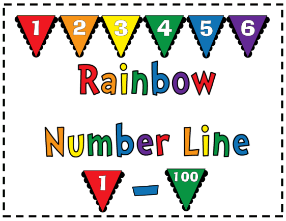picture relating to Printable Number Line to 100 named Rainbow Amount Line 1 - 100 Printable Worksheet with Option