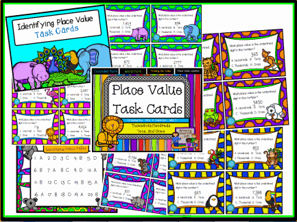 Place Value Math Task Cards