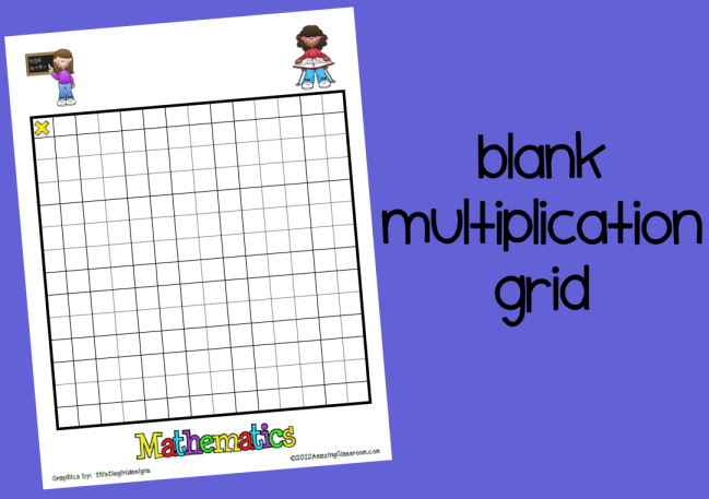 math worksheet : blank multiplication grid printable worksheet with answer key  : Multiplication Grids Worksheets