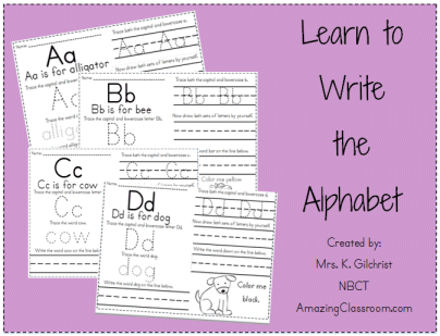 Learning To Write Worksheets - Templates and Worksheets