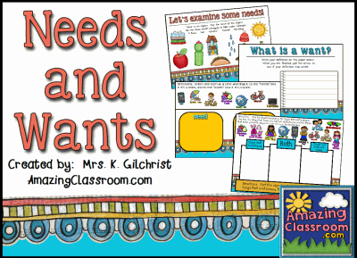 Needs and Wants Flipchart Lesson