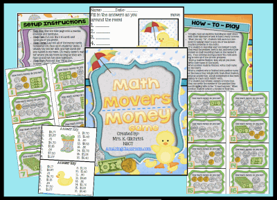 Math Movers Counting Money Game