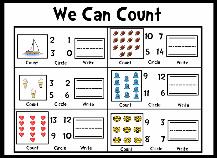 Free missing number counting worksheet for kindergarten kids teachers ...