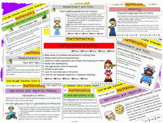 2nd Grade Math CCSS Common Core State Standards Printable – Common Core Standards Math Worksheets
