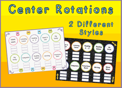 Center or Station Rotation Charts