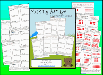 math worksheet : making arrays worksheet pack printable worksheet with answer key  : Multiplication Arrays Worksheets
