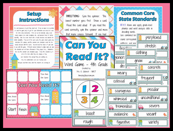 Can You Read It 4th Grade Center Printable Worksheet With Answer