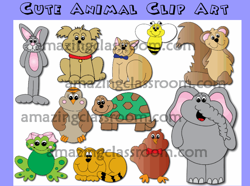 Cute Animal Clip Art Images