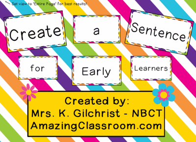 Create Sentences for Early Learners