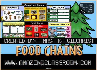 Food Chains & Biomes Smart Notebook