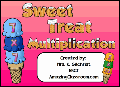 Sweet Treats Multiplication Lesson