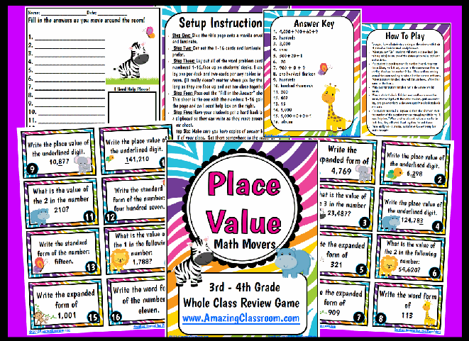 graphic about Printable Place Value Game called Math - Quantities Functions - House Price tag - Well-liked Main
