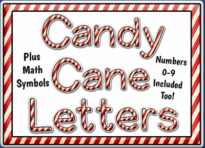Candy Cane Letters And Numbers Set Promethean Resource