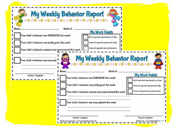 Worksheets Behavior Worksheets For Kids 3rd grade resources page 31 activinspire flipcharts smart my weekly behavior report style 2
