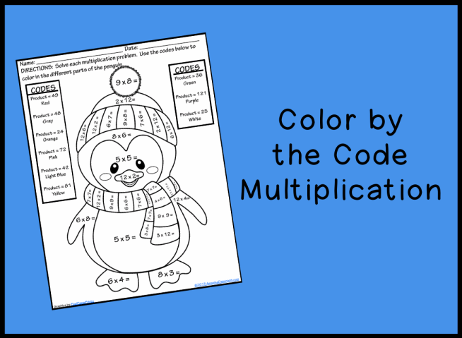 math worksheet : color by the code multiplication printable worksheet with answer  : Color Multiplication Worksheets