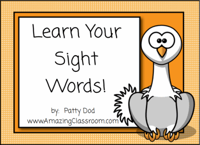 Words Common on word sight  activities smartboard Sight Learning SMART