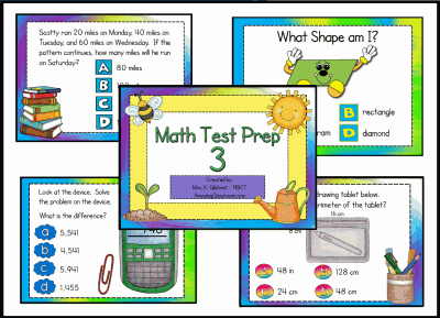 Math Test Prep 3 Flipchart Lesson