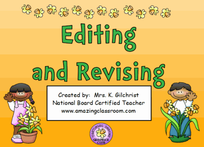 Printables Revise And Edit Worksheets communication arts writing brainstorming revising editing and flipchart