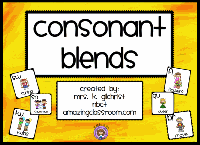 Consonant Blends Interactive Lesson