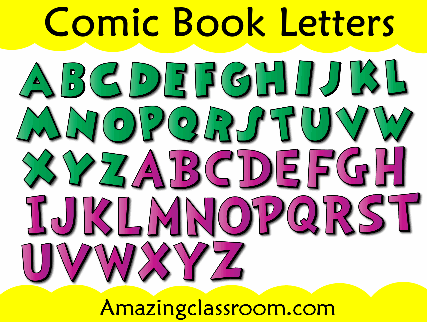 Comic Book Letters Promethean Resource Gallery Pack - Whiteboard ...