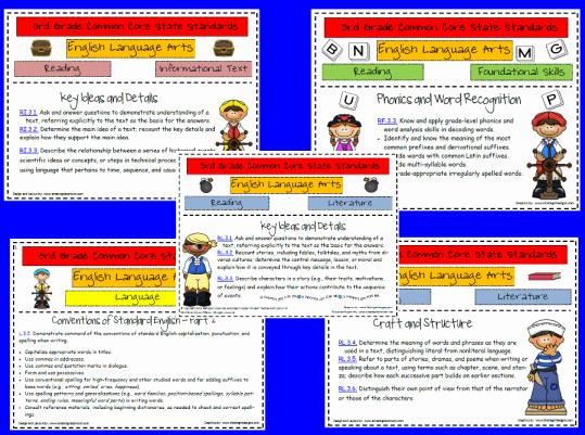 3rd grade common core language arts worksheets