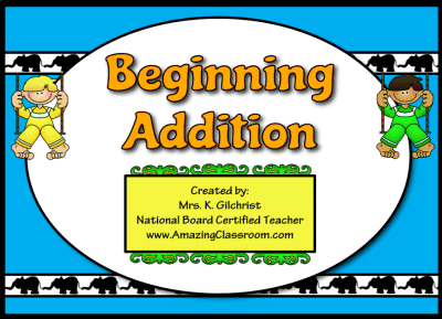 Beginning Addition Flipchart Lesson