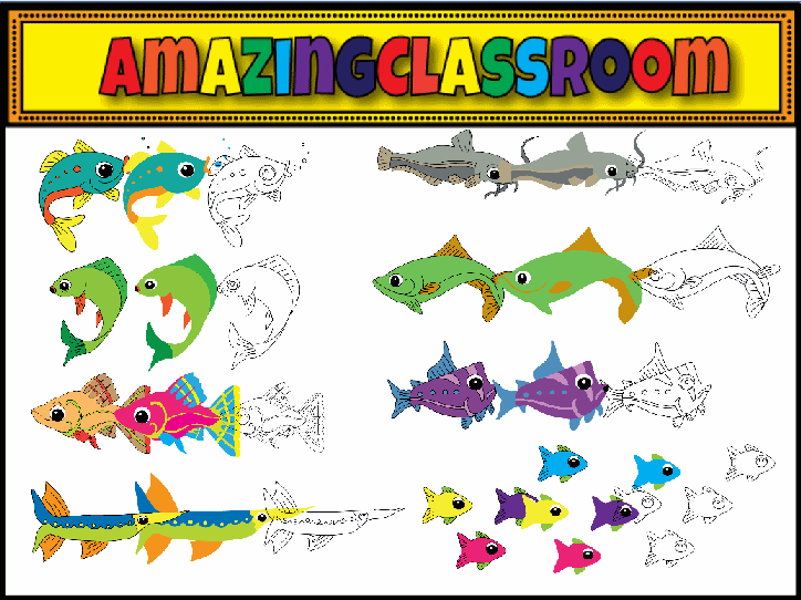 Interactive whiteboard resource packs clipart for Plural of fish