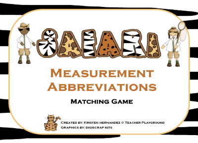 Measurement Abbreviations Matching Printable Worksheet With Answer