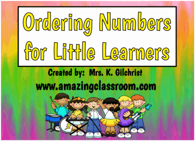 Ordering Numbers for Young Learners