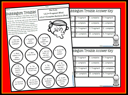Complete Sentence or Fragment Game