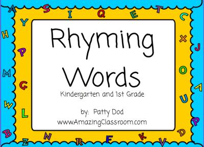 Number Names Worksheets : kindergarten rhyme words ~ Free ...